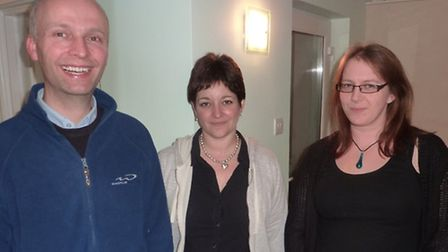Andy, Liz and Verity, the new leaders in charge of Ottery Scout's Beaver section.