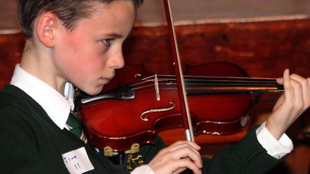 Lachland Rooney from Sidmouth Primary School takes part in last year's Youth Presents Music competit