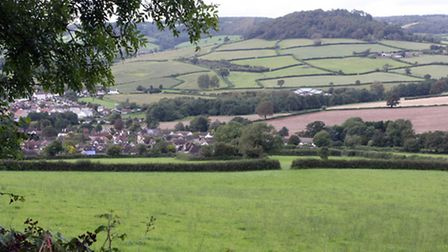 Development of a business park in the Sidford valley is unnacceptable, say town councillors. Photo b