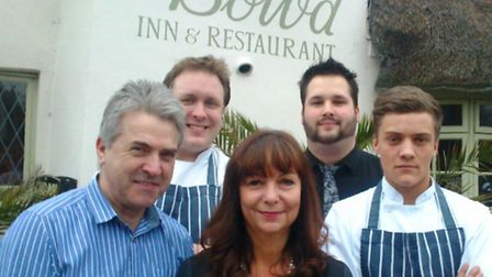(L to R) Paul Coe, head chef Phil Boardman, Belinda Coe, bar manager Simon Hoare and chef Jean-Paul