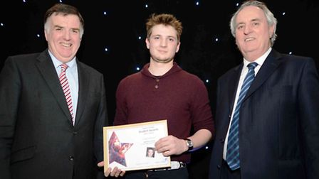 Matthew Hindle was honoured as Art and Design Student of the Year