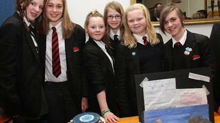 Sidmouth College students showcased their ideas on Friday evening. Photo by Simon Horn. Ref shs 6207