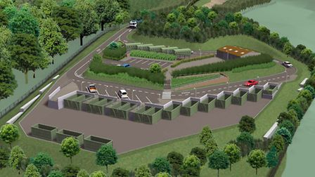 An artist's impression of the new recycling centre near the Bowd