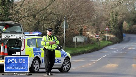 Accident on Exeter Road, Ottery St. Mary on Saturday, January 26 around 11.40am. Picture by Alex Wal