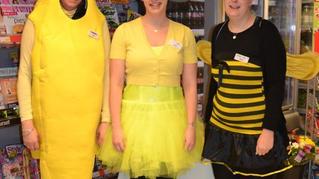 Staff at Ottery's Co-op store went 'yellow' for the day to help kick-start a campaign to raise money