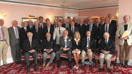 Celebrating the 75th anniversary of the Rotary Club of Sidmouth. Photo by Simon Horn. Ref shs 4908-3