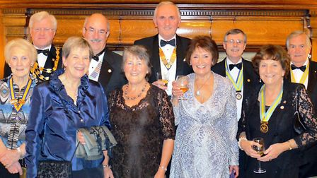 Top table Rotary Club members toasted 75 years on Saturday