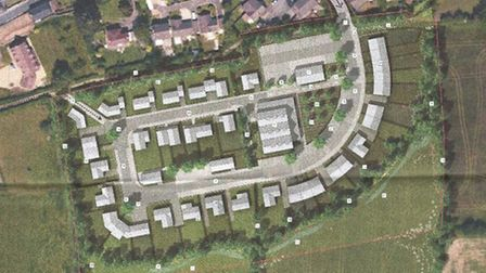 Proposed location and layout of Newton Poppleford's new development