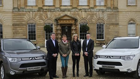 Mary King and Charlotte Dujardin with their new Mitsubishi Outlanders