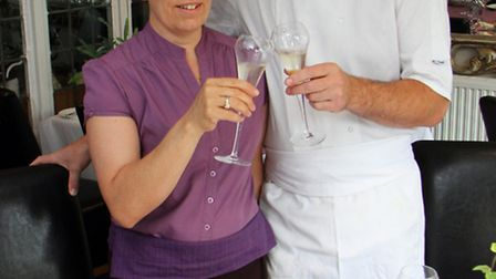 Annette and Andy Witheridge, owners of the Salty Monk in Sidfrod, which is reopening next week after