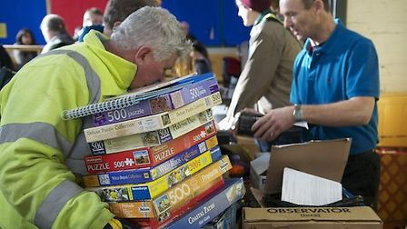 The first part of Ottery St Mary Scouts' 2013 Giant Annual Jumble Sale took place last Saturday. Pic