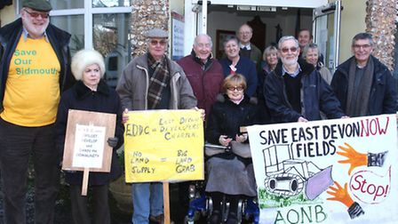 SOS protest in the Knowle on Tuesday. Photo by Terry Ife ref shs 7603-06-13TI To order your copy of