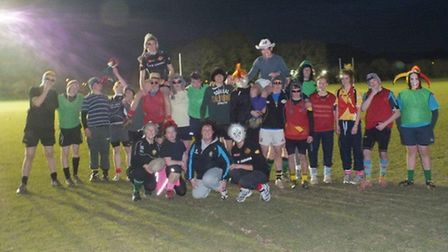 Sidmouth Under-16s line up at their training session with a difference