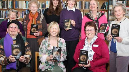 Colaton Raleigh author, Eva Le Bon launches her latest book - Bring Down The Moon at Sidmouth librar