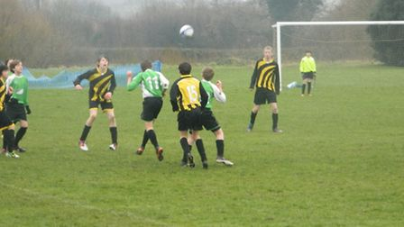 Action from West Hill U14 versus Kentisbeare in the Exeter & District Youth League
