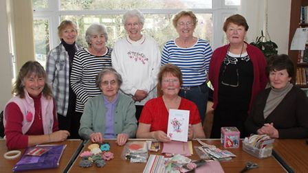 The Sidmouth Craft Club which meets at the Lymebourne Community Centre. Picture by Alex Walton. Ref