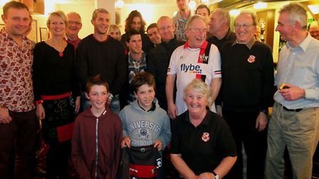 Fans with some of the players