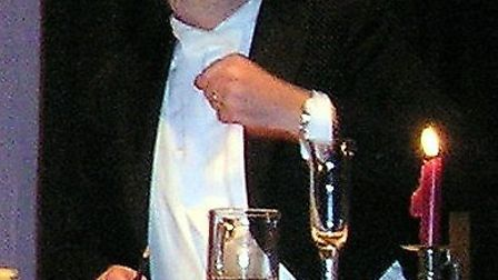 Mr Brian Rees, Music Hall 'Chairman' for the evening at the Manor Pavilion on March 2.
