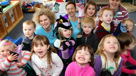Newton Poppleford preschool were visited by social enterprise group, Carousel Artists who came to in