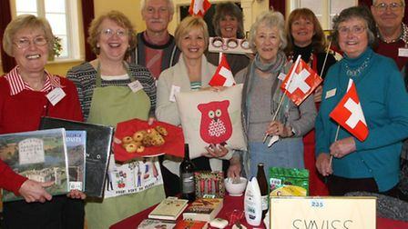 Sidmouth twinning circle at their coffee and craft morning at St Johns hall. Photo by Terry Ife ref