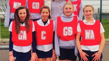 The Sidmouth College Year-8 netball team who did so well at the East Devon tournament finishing seco