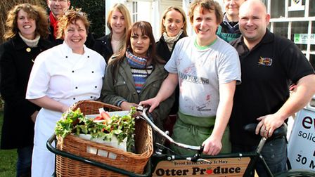 Ottery business owners get together to promote their forthcoming food and drink festival. Picture by