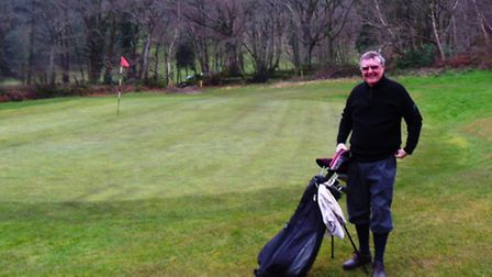 Peter Spooner on the Sidmouth course
