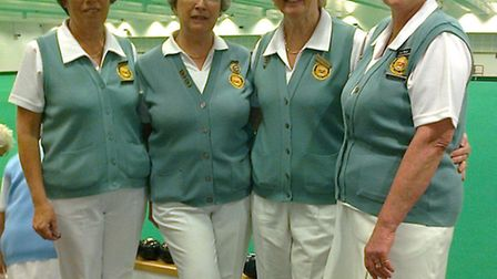 Marian Watson, Sue Mison, Zena Johnson and Jill Bishop, County semi-finalsts in the ladies' Fours co