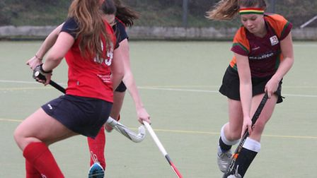 Sidmouth and Ottery ladies 2nd's at home in Ottery against Kingsbridge and Salcombe. Photo by Terry