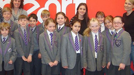 Year Four students from St John's School made a visit to Heart FM