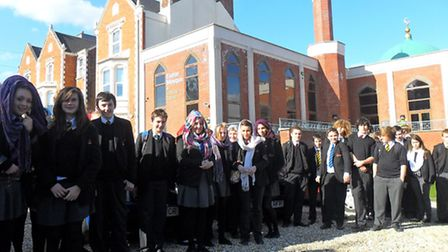 Sidmouth College students visit an Exeter mosque