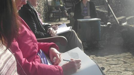 The East Devon Drawing Club at Jacob's Ladder