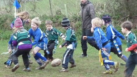 Sidmouth Under-7 action