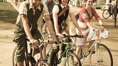Some of the Velo Vintage Cycle riders at last year's well supported event