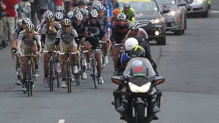 The Tour of Britain cyclists and their support teams rode right through Sidmouth on Tuesday and are