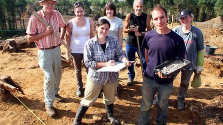 Higher Peak Hill archaeological dig. Picture by Alex Walton. Ref shs 0672-36-12AW. To order your cop