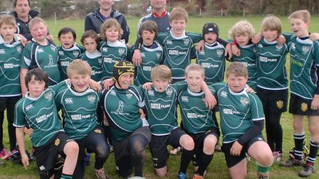 The Sidmouth RFC Under-11 squad