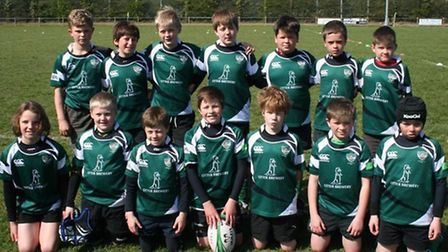 The Sidmouth Under-10 team