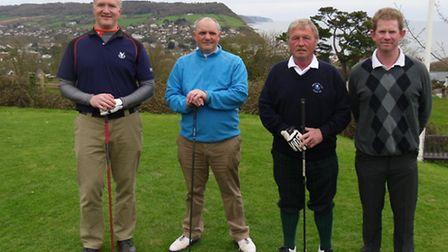 Sidmouth's Barry Venn with Steve Channing and a Dawlish pairing