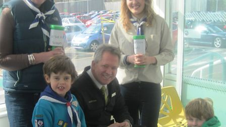 Scouts have thanked Waitrose staff and shoppers