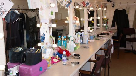 Bright lights: The male and female dressing rooms are lit with energy-saving bulbs.