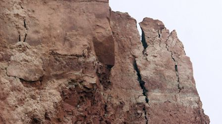 The crumbling cliffs at Pennington Point at Sidmouth as seen in April 2013. Picture by Terry Ife. Re
