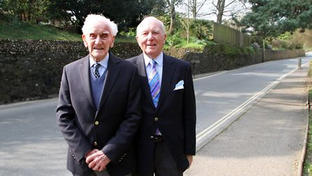 Sidmouth residents Freddy Wedderburn and Brian Black hope to get the green light to build a bridge c
