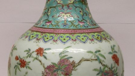 Lot 80 was a Chinese porcelain famille rose vase that sold for a whopping £20,000