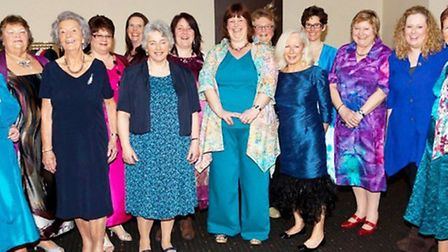 Thirteen models who are clients of Overly Gorgeous in Sidmouth took part in a fundraising fashion sh