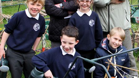 Sidmouth social enterprise group - Growing Together, has been hard at work with pupils from Sidmouth