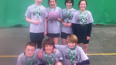 The Sidmouth Primary netball victorious team