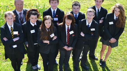 Some of the new prefects at Sidmouth College