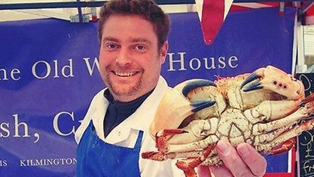 Simon Bennett, who runs the Old Watch House fishmongers in Ottery, has become a hit with top London
