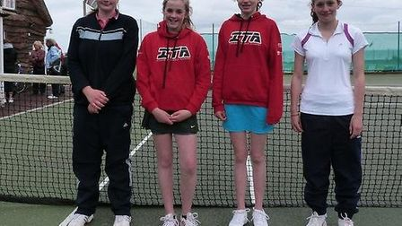 The Sidmouth girls Aegon team that took on Ivybridge; (from left to right) Molly Wiltshire, Georgia